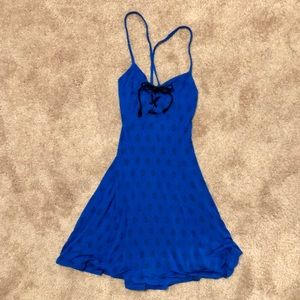 Silence + Noise royal blue dress